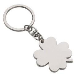 Porte-clés trèfle à 4 feuilles, en métal