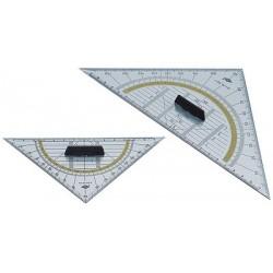 Wedo equerre géométrique, hypoténuse 160 mm, avec poignée