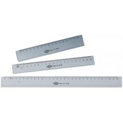 Wedo règle plate, 200 mm, en plastique, transparente