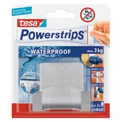 "Tesa powerstrips"" wave""waterproof double crochet, en acier"