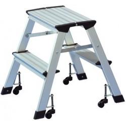 Wedo escabeau, en aluminium, capacité: 150 kg, 2x 2 marches,