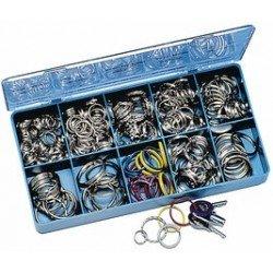 Wedo anneaux en métal durci pour clés dans une boîte