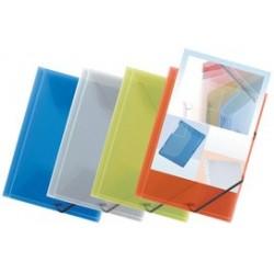 Elba chemise à élastique polyvision, avec pochette a4, bleu