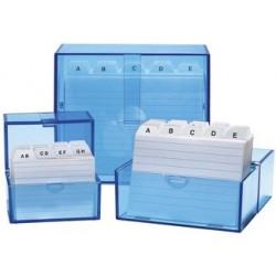 Wedo boîte à fiches a7 à l'italienne, bleu transparent,