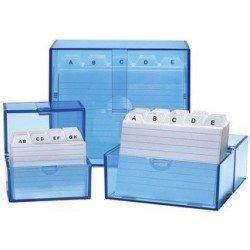 Wedo boîte à fiches a8 à l'italienne, bleu transparent,