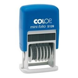 Colop tampon numéroteur mini dateur s126, 6 bandes
