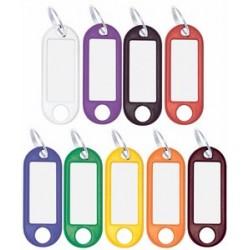 Wedo porte-clés avec anneau, diamètre: 18 mm, blanc
