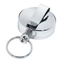 Wedo clip ceinture, fil retractable en plastique, argenté