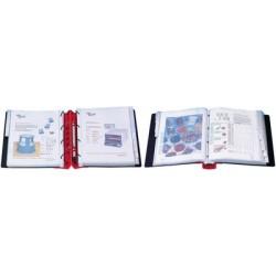 Wedo classeur de présentation, 56 mm, noir/rouge, couverture