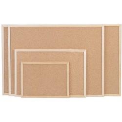 Magnetoplan tableau en liège avec cadre en bois, (l)400 x