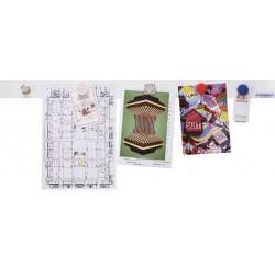 Magnetoplan kit de barrettes magnétiques, 500 x 50 mm, blanc