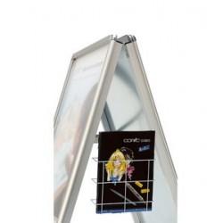Magnetoplan fronton pour chevalet publicitaire sp a1, blanc