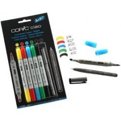 Copic kit de marqueur ciao 5+1 set, couleurs brillantes