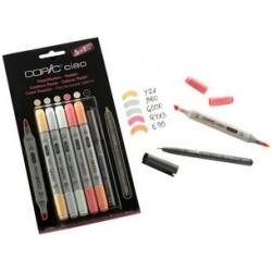 Copic kit de marqueurs hobbymarker ciao 5+1, couleurs pastel