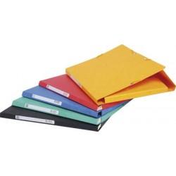 Exacompta chemise à élastiques, en carton, 425 g/m2, rouge