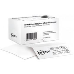 Avery Étiquettes d'affranchissement, 140 x 40 mm, blanc