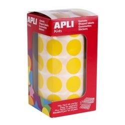 Agipa apli kids gommettes de couleur en rouleau, jaune