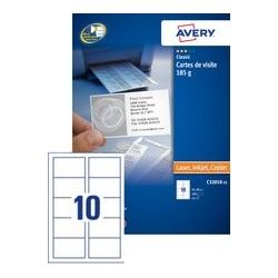 Avery cartes de visite quick&clean, 185 g/m2, blanc