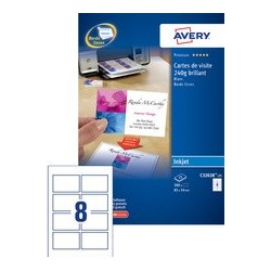 Avery cartes de visite quick&clean, 260 g/m2, mat blanc