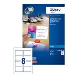 Avery cartes de visite quick&clean, 260 g/m2, brillant blanc
