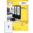 Avery Étiquettes de classement adhésives, 192 x 61 mm, blanc