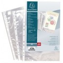 Exacompta pochettes perforées, a4, pp, lisse, transparent