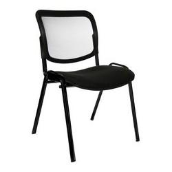 "Topstar chaise de bureau ""net point visit noir"", bleu royal (LOT DE 4)"