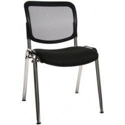 """Topstar chaise de bureau """"net point visit chrom"""", marron (LOT DE 4)"""