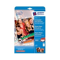 Avery zweckform papier photo jet d'encre a4, 200g, brillant