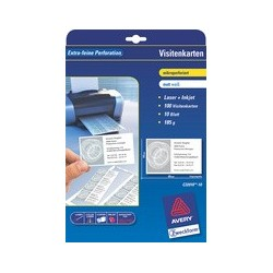 Avery zweckform cartes de visite, 85 x 54 mm, blanc