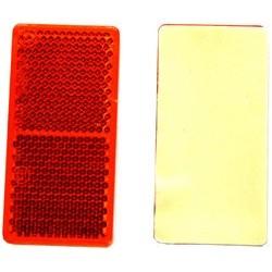 Iwh reflektor, eckig, 71 x 35 mm, rot, selbstklebend