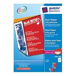 Avery zweckform papier pour flyer, format a4, 170 g/m2,