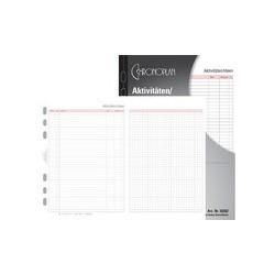 Chronoplan liniertes blatt, din a5, 80 g/qm, 50 blatt