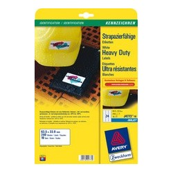Avery zweckform étiquettes ultra résistantes, 63,5 x 33,9 mm