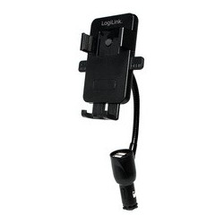 Logilink chargeur allume-cigare & support pour smartphone