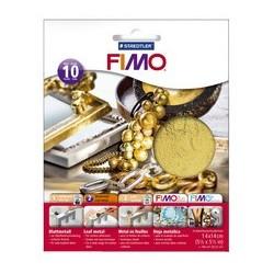 Fimo blattmetall, gold, 10 blatt