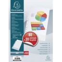 Exacompta pochette perforée, pack promo 80+20 gratuits, a4,