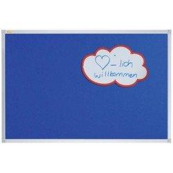 Franken tableau en textile x-tra!line, 1.800 x 1.200mm, bleu