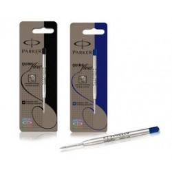 Parker recharge pour stylo quinkflow, f, bleu, blister