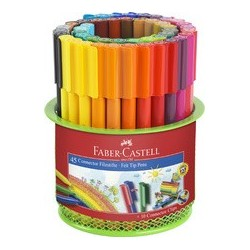 Faber-castell feutres connector pen, pot de 45