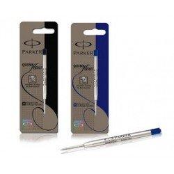 Parker recharge pour stylo quinkflow, m, noir, blister