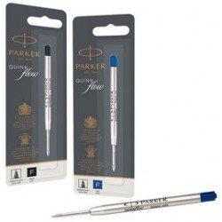 Parker recharge pour stylo quinkflow, f, noir, blister