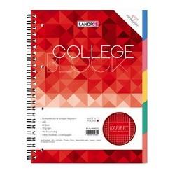 """LandrÉ cahier à spirale avec intercalaires """"college"""", a4,"""