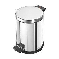 Hailo poubelle à pédale profiline solid 14, 14 litres,argent