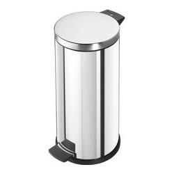 Hailo poubelle à pédale profiline solid 20, 20 litres, blanc