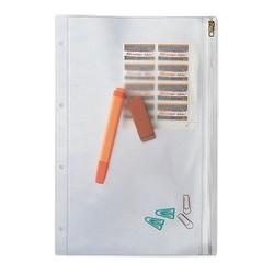 Leitz pochette à fermeture éclair, format a5, pvc, granuleux