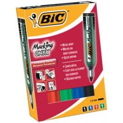 Bic marqueur permanent marking onyx 1482, pointe ogive,