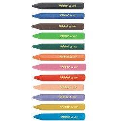 Bic craies coloriage plastidecor triangle, garniture de 144