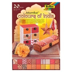 """Folia bloc à papier naturel """"mumbai"""", a4, 20 feuilles"""