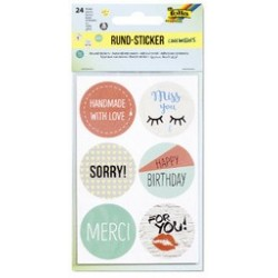 "Folia rundsticker ""cool wishes"""